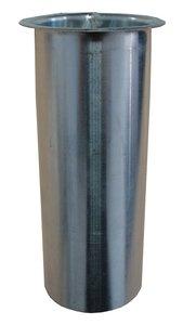 Zinken Dakgoot - Tapeind Bakgoot B37 / B44 - Rond 80 mm - Lang 9 cm